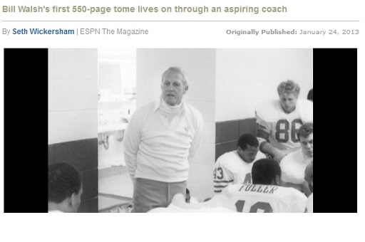 Bill Walsh's Tragic Success