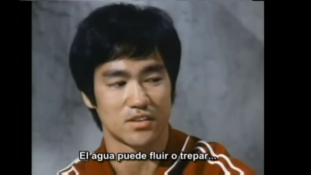 Bruce Lee water quote still