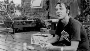 John Fahey on a porch