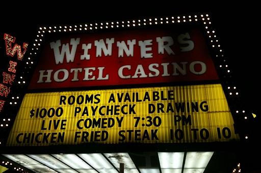Winners casino marquee